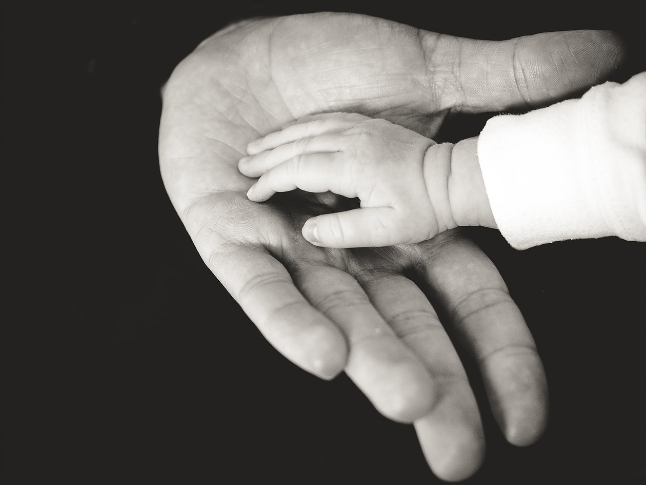Single Parent Hand Holding Childs Hand