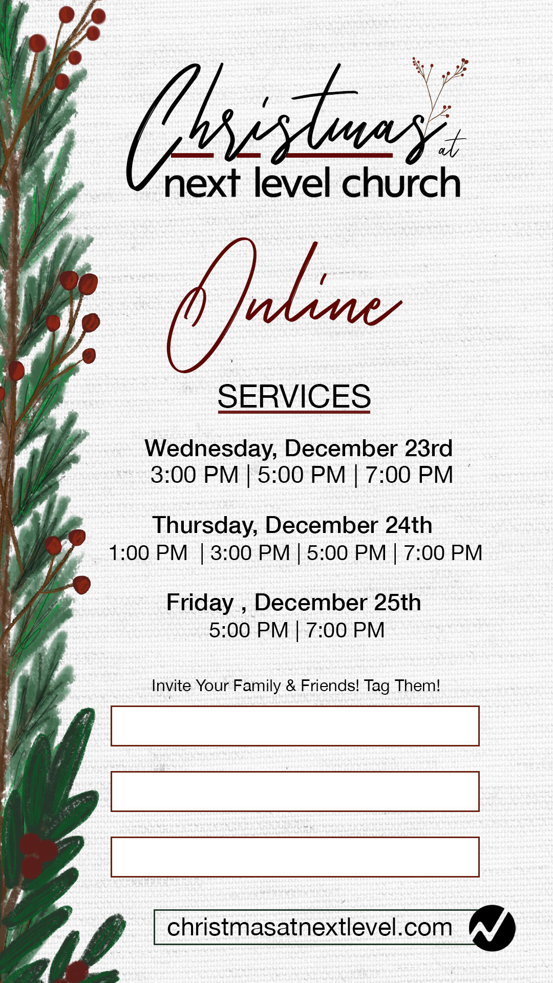 Christmas DeliverablesInstagram Stories Online Times